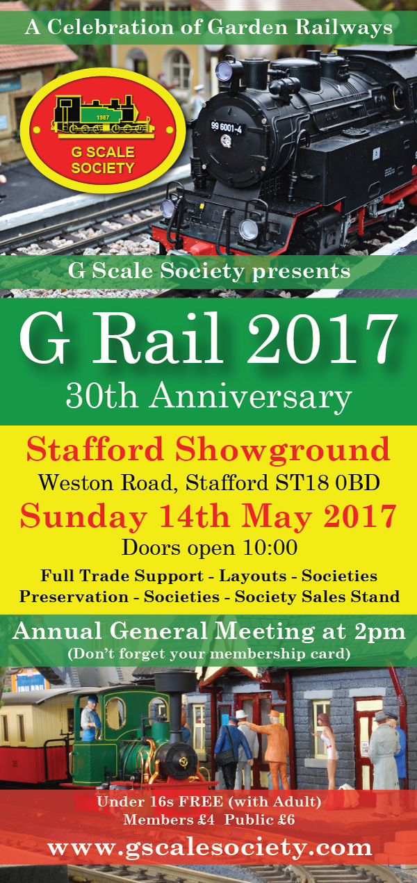 G Rail 2017 - Stafford County Showground, Weston Road, Stafford, ST18 0BD on Sunday 14th May 2017 from 10:00am to 5:00pm
